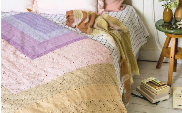 edredon teinture textile lit chambre linge de lit