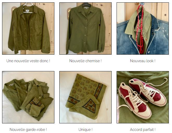garde robe kaki teinture textile haute couture